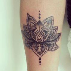 Lotus Mandala Tattoo Sleeve Lotus tattoo.the lotus has
