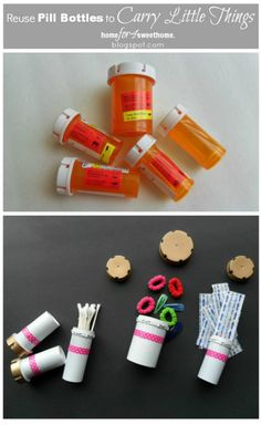 This is a cute repurpose for holding and organizing small items.