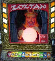 Zoltan Vintage Fortune Teller Arcade Machine.