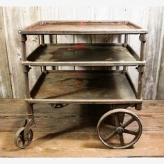 Awesome!  Industrial cart on Fab.com! $875.00 (a bit too many $ for the m.cave, though!...maybe Pete can find a scrap one!)