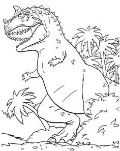 big t rex coloring pages