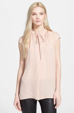 Vince Cap Sleeve Blouse available at #Nordstrom