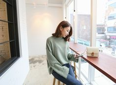 Wear something stylish and cozy like this knit sweater. ♥