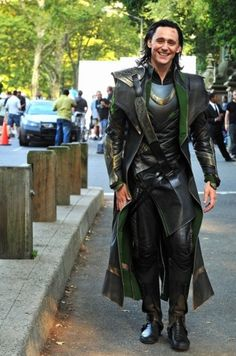 Loki full length costume detailing