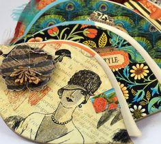 """¡Buenos días!  #Detallitos   #LittleDetails  Imagen del Álbum de fotos """"High Couture"""".  ¡Puede ser tuyo! Curiosea => http://manosinkietas.com/index.php/portfolio/album-highcouture  #Scrapbooking #Scrapbook #ÁlbumDeFotos #Álbum #Photoalbum #hechoamano #handmade #artesanía #manualidades #HighCouture #Twenties #20s #Handcraft #Crafty"""