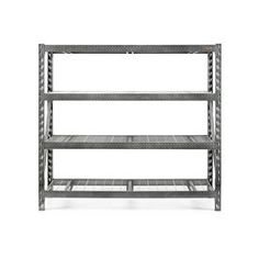 Gladiator 72-in H x 77-in W x 24-in D 4-Tier Steel Freestanding Shelving Unit