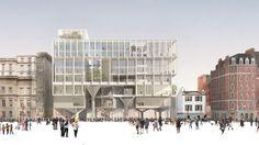 competition winner - principal elevation - Paul Marshall Building - LSE, London - Grafton - 2016