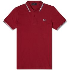 Fred Perry Original Twin Tipped Polo (Maroon)