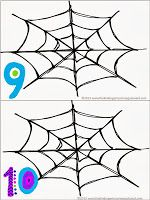 FREE!  Spider web counting center!!! Use spider rings as counters.
