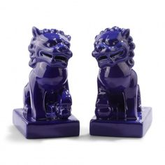 Deep Blue Foo Dogs C Wonder | via Southern Arrondissement