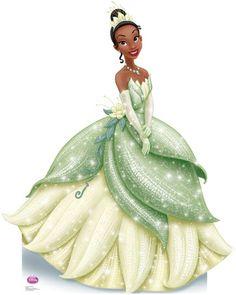 Tiana Princess Cute Outs | Princess Tiana Sparkle - The Princess and the Frog Disney Lifesize ...