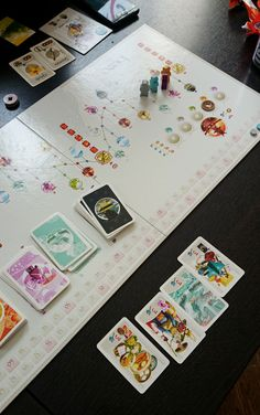All of the actions in Tokaido are very simple, and combined with a unique graphic design, Tokaido offers players a peaceful zen mood in its play.