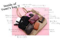 inside of yumi's bag