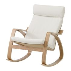 POÄNG Rocking-chair, oak veneer, Finnsta white Finnsta white oak veneer