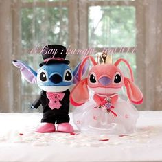 Disney Stitch & Angel Wedding Gown Bridal & Groom Doll Plush 22cm Collectible (Doubt I could get away with it... Hehe)