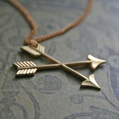 Want!!    cross arrows  double arrow brass vintage by chainchainchained, $25.00