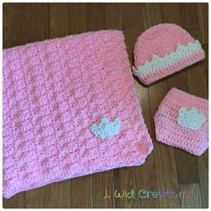 A personal favorite from my Etsy shop https://www.etsy.com/listing/516836596/princess-crown-baby-blanket-beanie