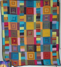 """Ode to Kaffe"" by Anne at the Portland Modern Quilt Guild"