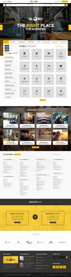 Google Website Templates Materialist  Material Directory Html Template  List Website