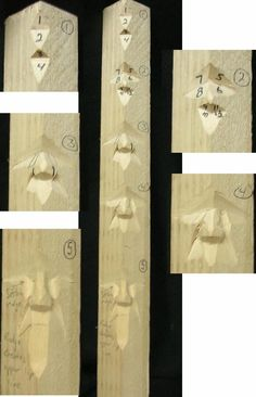 study stick carving | of 4 sticks you will create - click for larger image