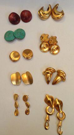 RLM earrings circa 1981-5