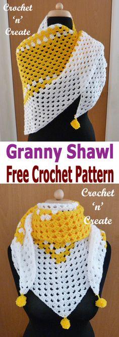 Free crochet pattern: Granny Shawl by CrochetNCreate
