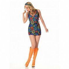 Kaleidoscope Print Go-Go Dress Costume
