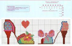 0 point de croix chaussures multicolores - cross stitch colourful shoes