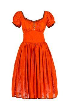 Gonzales Dress Palm Orange by Lena Hoscheck