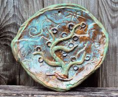 Decorative plate wall hanging abstract by PitterPotterPottery