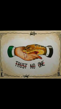 Tattoo traditional trust no one