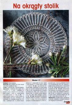 "Photo from album ""Robotki Reczne extra - - on Yandex. Crochet Tablecloth, Crochet Doilies, Japanese Crochet Patterns, Crochet Mandala, Doily Patterns, Views Album, Christmas Wreaths, Handmade, Yandex"