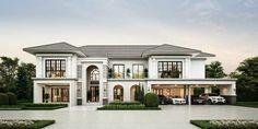 สมาคมธุรกิจรับสร้างบ้าน Home Builder Association Luxury Homes Exterior, Luxury Homes Dream Houses, Luxury House Plans, Dream House Plans, Modern House Plans, Dream House Interior, Luxury Floor Plans, House Outside Design, House Front Design