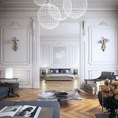 Home Decoration Living Room .Home Decoration Living Room Interior Design Inspiration, Home Interior Design, Interior Architecture, Room Interior, Interior Design Traditional, Luxury Interior, Interior Ideas, Neoclassical Interior Design, Interior Plants