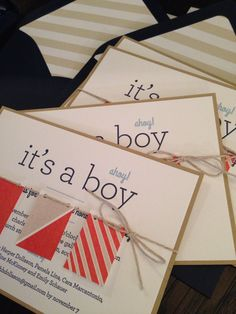 Such a cute letterpress baby shower invite Maybe do something