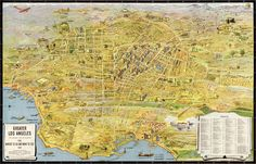 1934 Map of Los Angeles #map #usa #la #losangeles