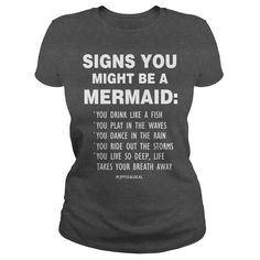 (Tshirt Like) Signs you might be a meraid  Shirts Today  in the  Ship Worldwide TIP SHARE it with your friends together and  Tshirt Guys Lady Hodie  SHARE and Get Discount Today Order now before we SELL OUT Today  #tshirt #pinteres #Tshirtamerican #Tshirtjob #Tshirtnam