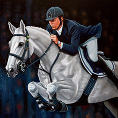 4575ed972 Kunstwerk: 'Jeroen Dubbeldam op De Sjiem schilderij' van Paul Meijering