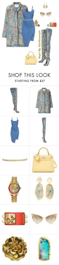 """Untitled #795"" by cherhorowitz95 ❤ liked on Polyvore featuring Rubeus, Warehouse, Hermès, Rolex, Kimberly McDonald, Tom Ford and Chanel"