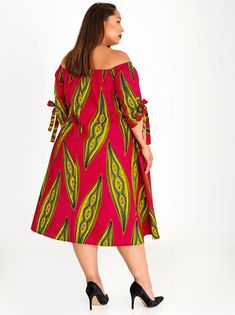 Plus-Fab Thami Dress Dark Pink