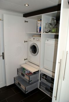 1000 images about bijkeuken on pinterest laundry laundry rooms and met - Berging idee ...