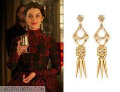 Reign: Season 2 Episode 11 Mary's Gold Dangle Earrings