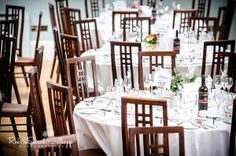 Welcome to Wedding Land… where it's perfectly ok to spend on chairs you'll use for one day! Place Settings, Table Settings, Country House Wedding Venues, Hall Interior, Wedding Chairs, Wedding Images, Elegant Wedding, Jewel, Interiors