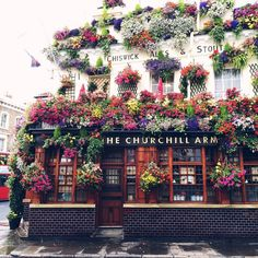 The Churchill Arms: London flower market love. Oh The Places You'll Go, Places To Travel, Travel Destinations, Churchill, Beautiful World, Beautiful Places, Beautiful Flowers, To Infinity And Beyond, Adventure Is Out There