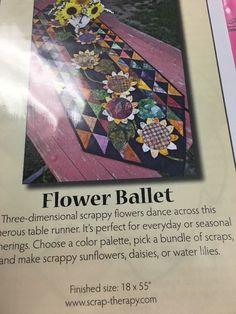 Flower Ballet Table Runner Pattern     eBay