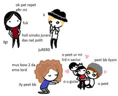 gerard tries to teach patrick to swear while the rest of mcr worships pete badly drawn mcr