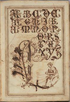 Antonio Schiratti  -  Calligraphy copybook / practice manual produced in Perugia, Italy  -  c.1600 /15