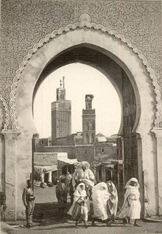 old images Bab El Mejles et minarets de mosquées Moroccan Art, Moroccan Theme, Old Images, Old Photos, Amsterdam, Vintage Poster, Out Of Africa, Arabian Nights, Andalusia