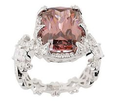 {@Erica Cerulo Courtney Diamonique Cushion Cut Brooklyn Ring}