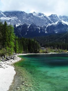One of my FAVORITE places on Earth: The Eibsee, a lake right outside of Garmisch, Germany. Went here at least once a week during spring and summer.